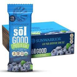 Sunwarrior Sol Good Protein Bars Blueberry Blast