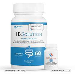 Super Naturals Natural IBSolution - Gluten Free - Vegetarian Formula