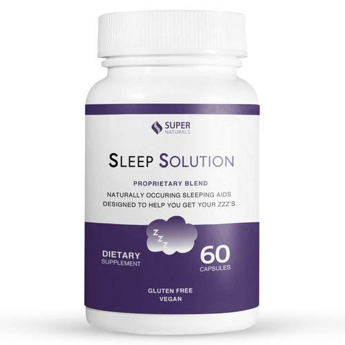 Super Naturals Sleep Solution  - 60 Capsules - 352654_front.jpg
