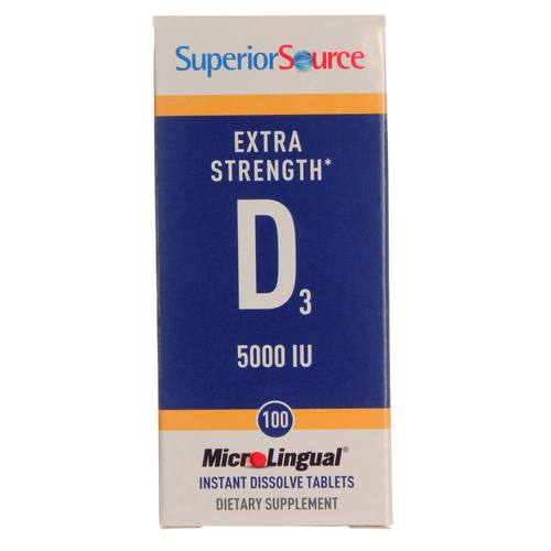 Superior Source D3 Fuerza extra - 5,000 IU - 100 Tablets - 20121003_116.jpg