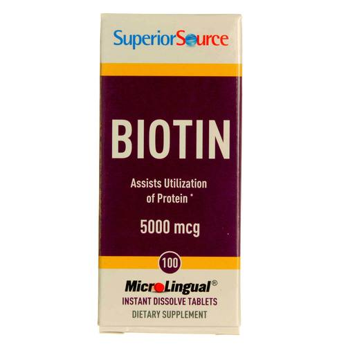 Superior Source Biotin  - 5,000 mcg - 100 Tablets - 20121008_103.jpg
