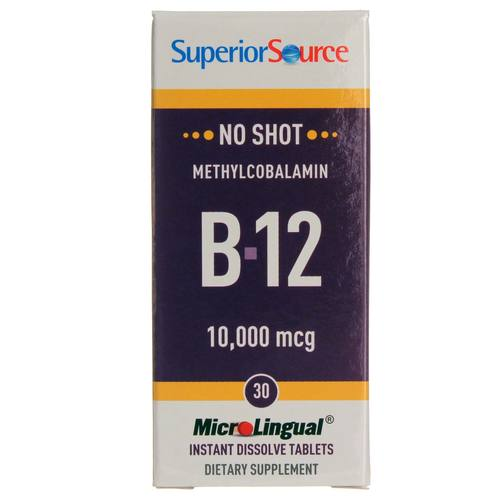 Superior Source No Shot B12  - 10,000 mcg - 30 Tablets - 20121003_152.jpg