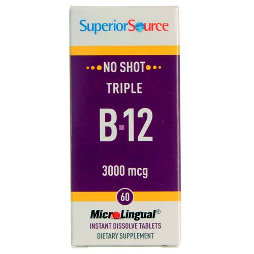 Superior Source No Shot Triple B-12  - 3,000 mcg - 60 Tablets - 20121003_148.jpg
