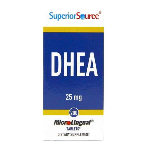 Superior Source DHEA - 25 mg - 200 Tabletas - 276409_front2020.jpg