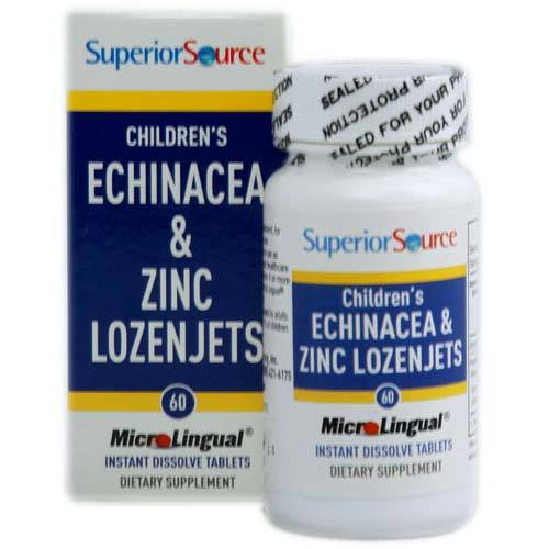 Superior Source Children's Echinacea and Zinc Lozenjets - 60 Tabletas