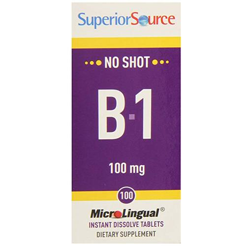 Superior Source No Shot B-1 100 mg  - 100 Tablets