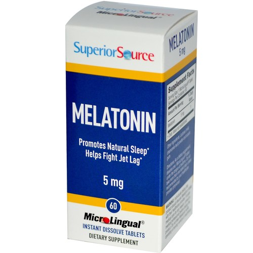 Superior Source Melatonin  - 5 mg - 60 Tablets - 276472_a.jpg