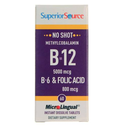 No Shot 5,000 mcg Methyl B12, B6 and Folic Acid 800