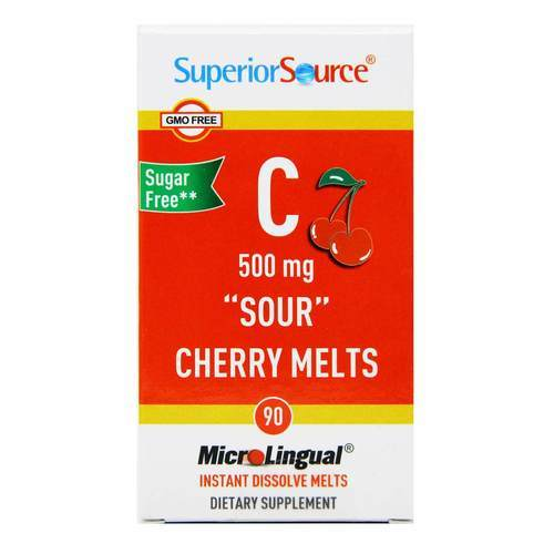 Superior Source C 500 mg Sour Cherry Melts Cherry - 90 Tablets - 70375_front2020.jpg