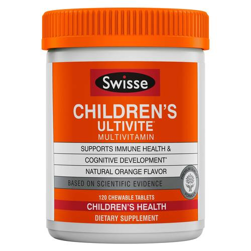 Swisse Children's Ultivite  - 120 Chewable Tablets - 349535_front_ok.jpg