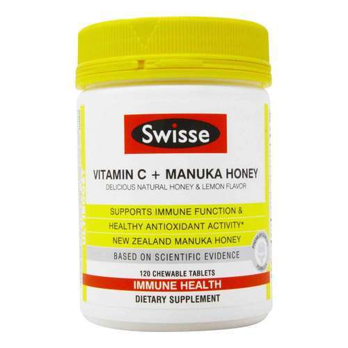 Swisse Vitamin C and Manuka Honey - 120 Chewable Tablets - 353258_front2020.jpg