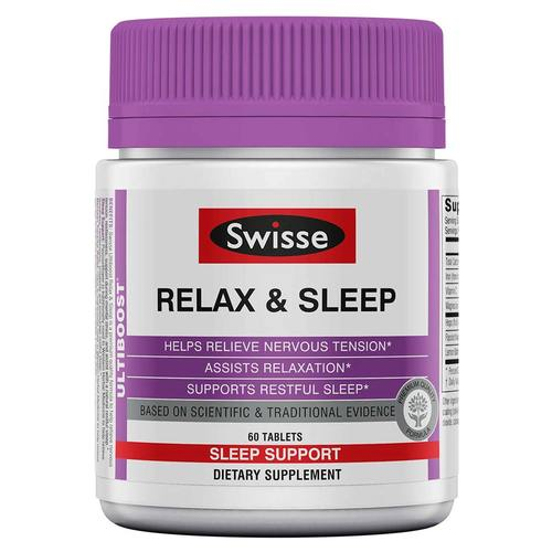 Swisse Relax and Sleep - 60 Tablets - 353260_front.jpg