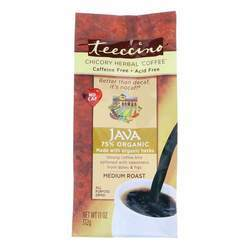 Teeccino Chicory Herbal Coffee Medium Roast Caffeine Free