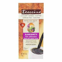 Teeccino Chicory Herbal Coffee Medium Roast Caffeine Free Almond Amaretto