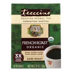 Teeccino French Roast Herbal Tea Dark Roast