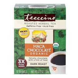 Teeccino Herbal Tea Organic Maca Chocolaté