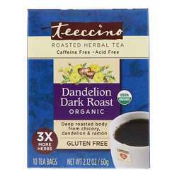 Teeccino Roasted Herbal Tea Dandelion Dark Roast
