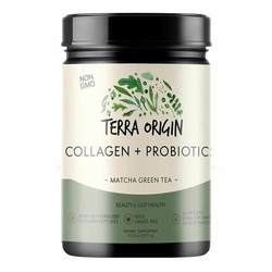 Terra Origin Probiotic Collagen Powder Matcha