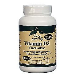 Terry Naturally Vitamin D3 Chewable 5-000 IU