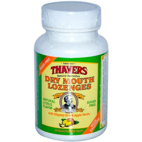 Thayers Dry Mouth Lozenges Citrus - 100 Lozenges
