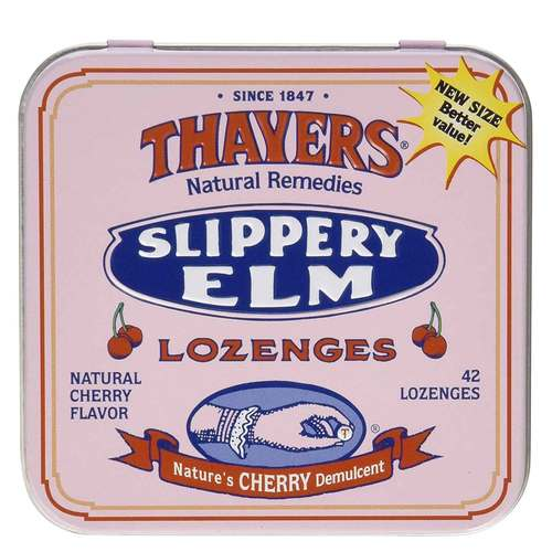 Thayers Slippery Elm Lozenges Cherry - 42 Lozenges - 31961_front.jpg