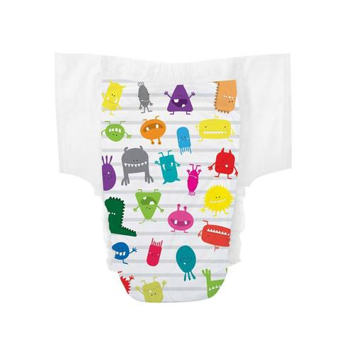 The Honest Company Training Pants Monsters - Size 3T/4T (L), 23 pack