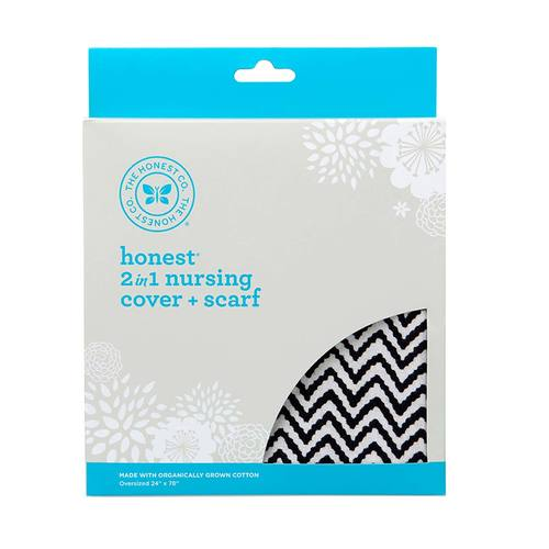 The Honest Company 2-in-1 Organic Nursing Cover and Scarf Chevron - 1 Count