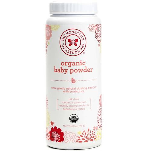 The Honest Company Organic Baby Powder - 4 oz - eVitamins.com