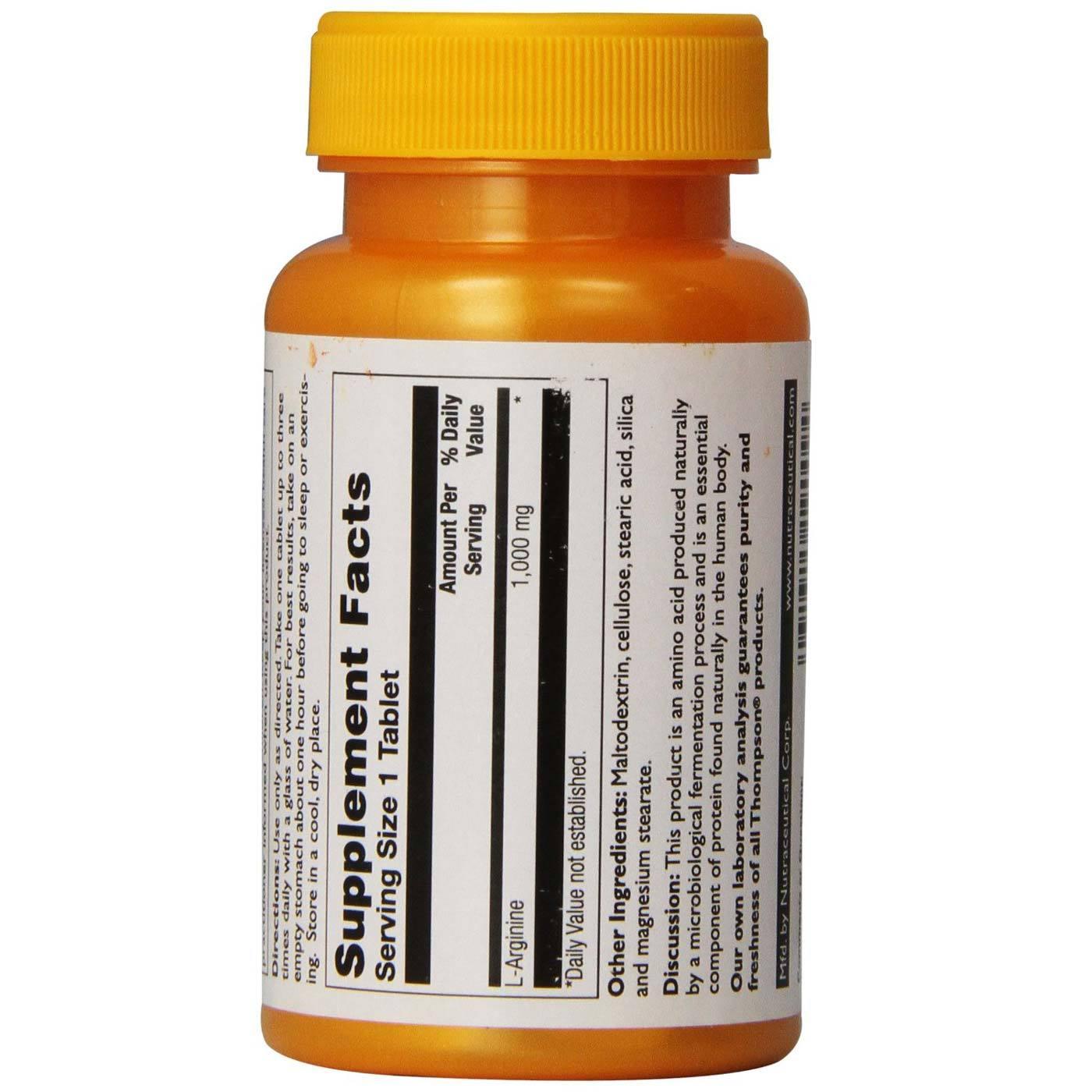 Thompson L-Arginine - 1,000 mg - 30 Tablets