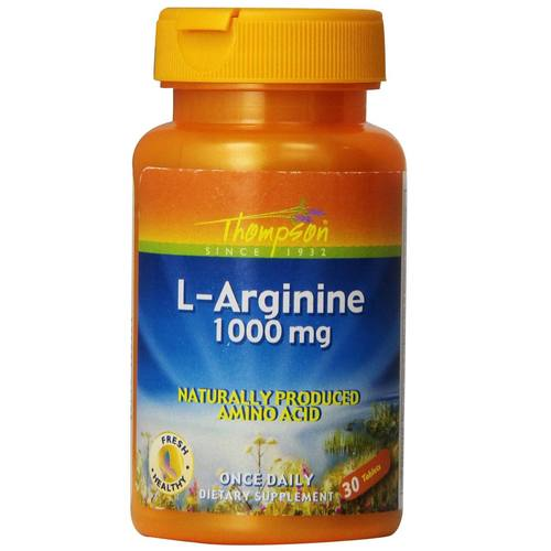 Thompson L-Arginine  - 1,000 mg - 30 Tablets - 36356_01.jpg