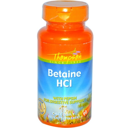 Thompson Betaine HCl with Pepsin  - 90 Tablets - 36428.jpg