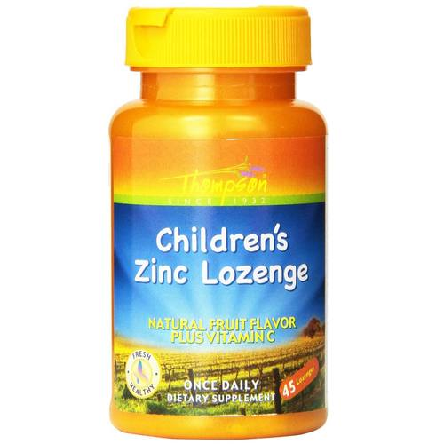 Thompson Children's Zinc Lozenge 5 mg Fruit - 45 Lozenges - 36454.jpg
