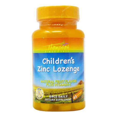 Thompson Children's Zinc Lozenge 5 mg Fruit - 45 Lozenges - 36454_front2020.jpg