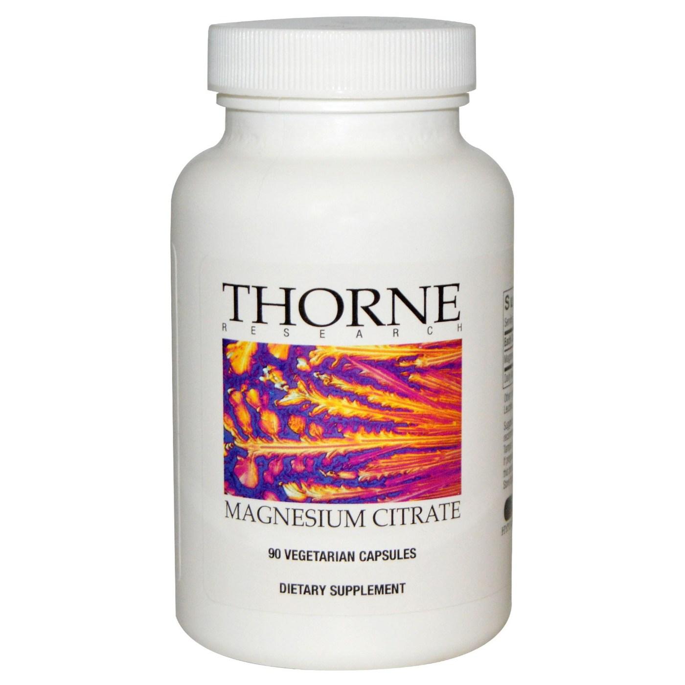thorne magnesium citrate