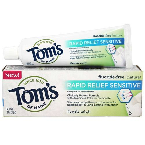 Natural Rapid Relief Sensitive Fluoride-Free Toothpaste