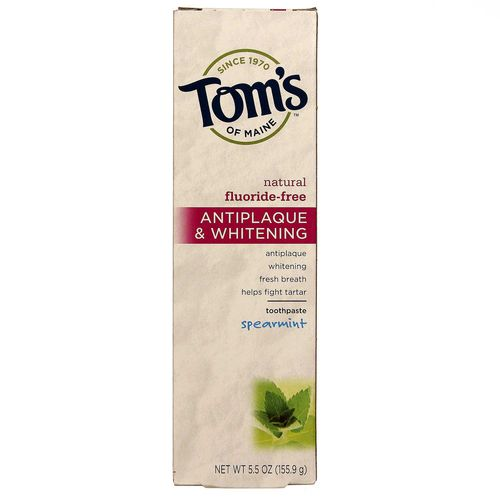 Tom's of Maine Antiplaque and Whitening Toothpaste Spearmint - 5.5 oz - 077326830864_1.jpg
