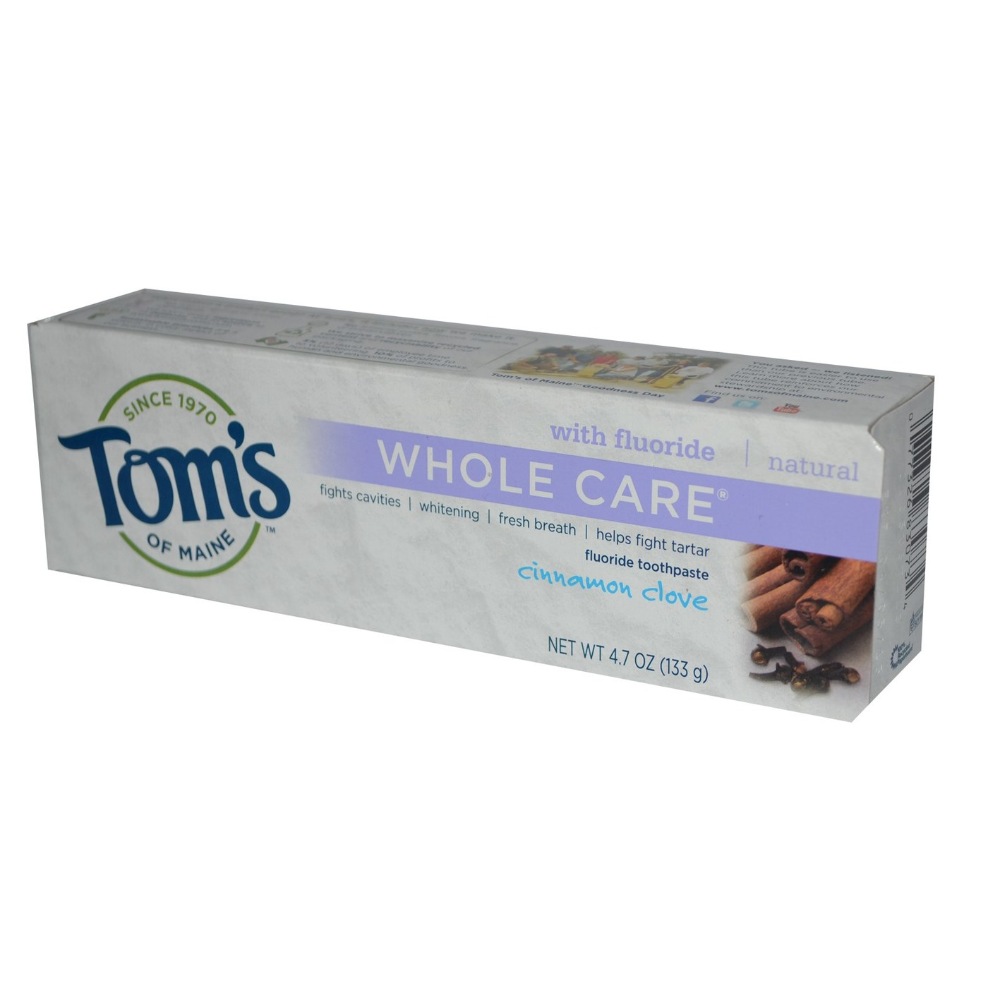 Tom S Of Maine Whole Care Cinnamon Clove Natural Toothpaste
