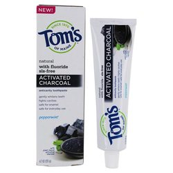 Tom's of Maine Activated Charcoal Toothpaste with Fluoride