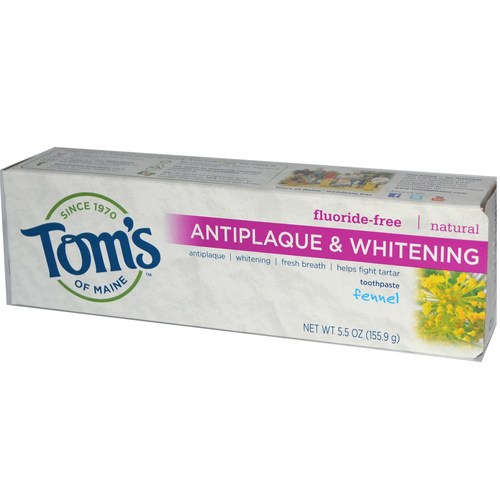 Natural Antiplaque & Whitening Toothpaste