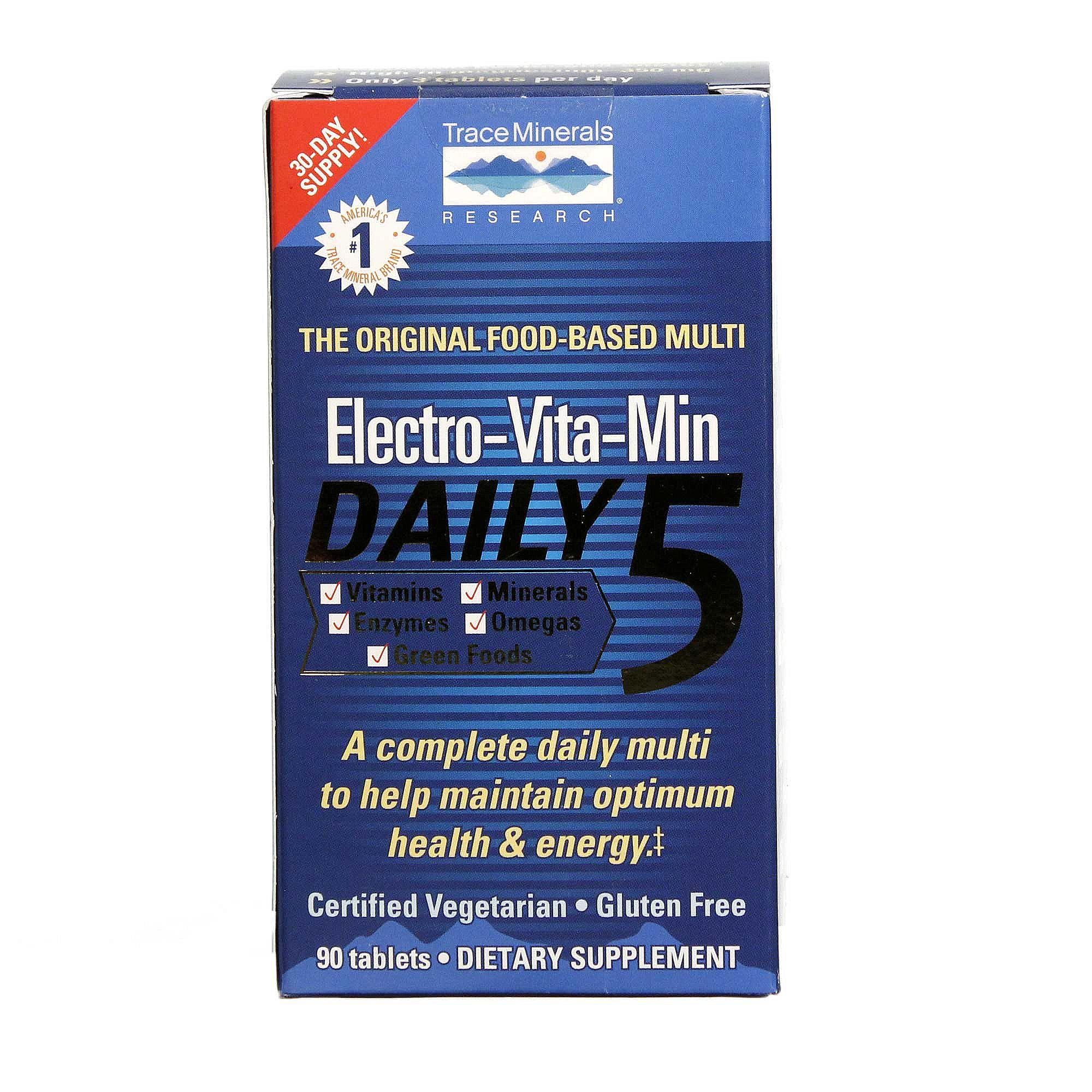 Trace Minerals Research Electro Vita Min Daily 5 90
