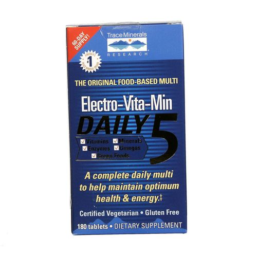Trace Minerals Research Electro-Vita-Min Daily 5  - 180 Tablets - 878941000621_1.jpg