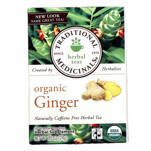 Traditional Medicinals Organic Herbal Tea Ginger - 16 bags - 032917001641_1.jpg