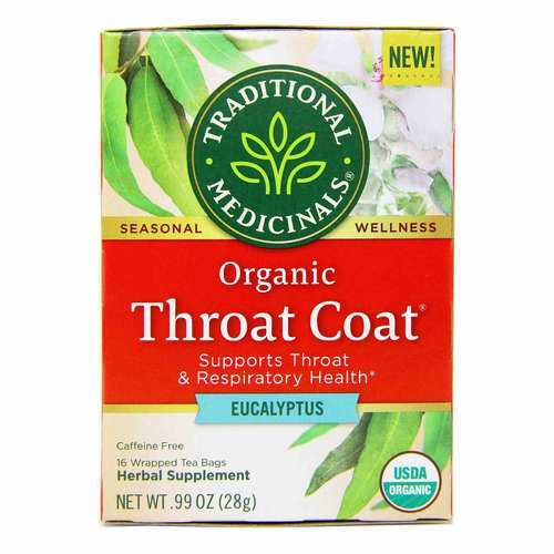 Traditional Medicinals Throat Coat Eucalyptus  - 16 Tea Bags - 353923_front2020.jpg