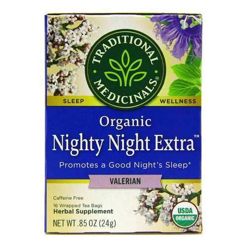 Traditional Medicinals Relaxation Tea Valerian - Nighty Night - 16 bolsitas - 54110_front2020.jpg