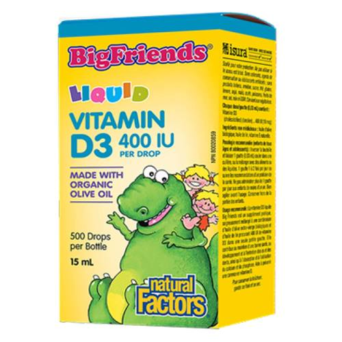 BigFriends Liquid Vitamin D3 400 IU