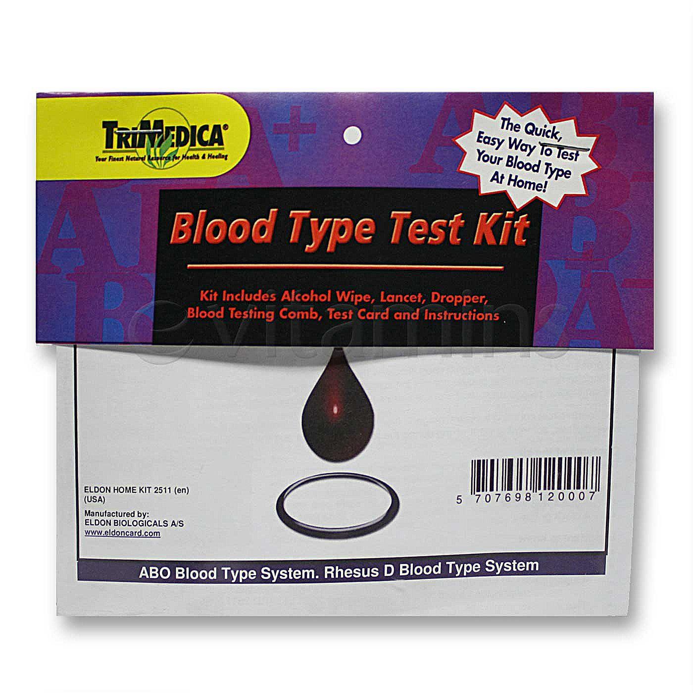 Blood types test kit