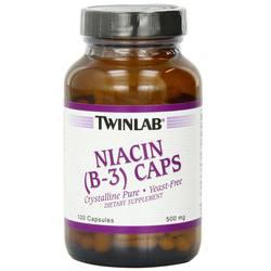 Twinlab Niacin (B-3) 500 mg Caps