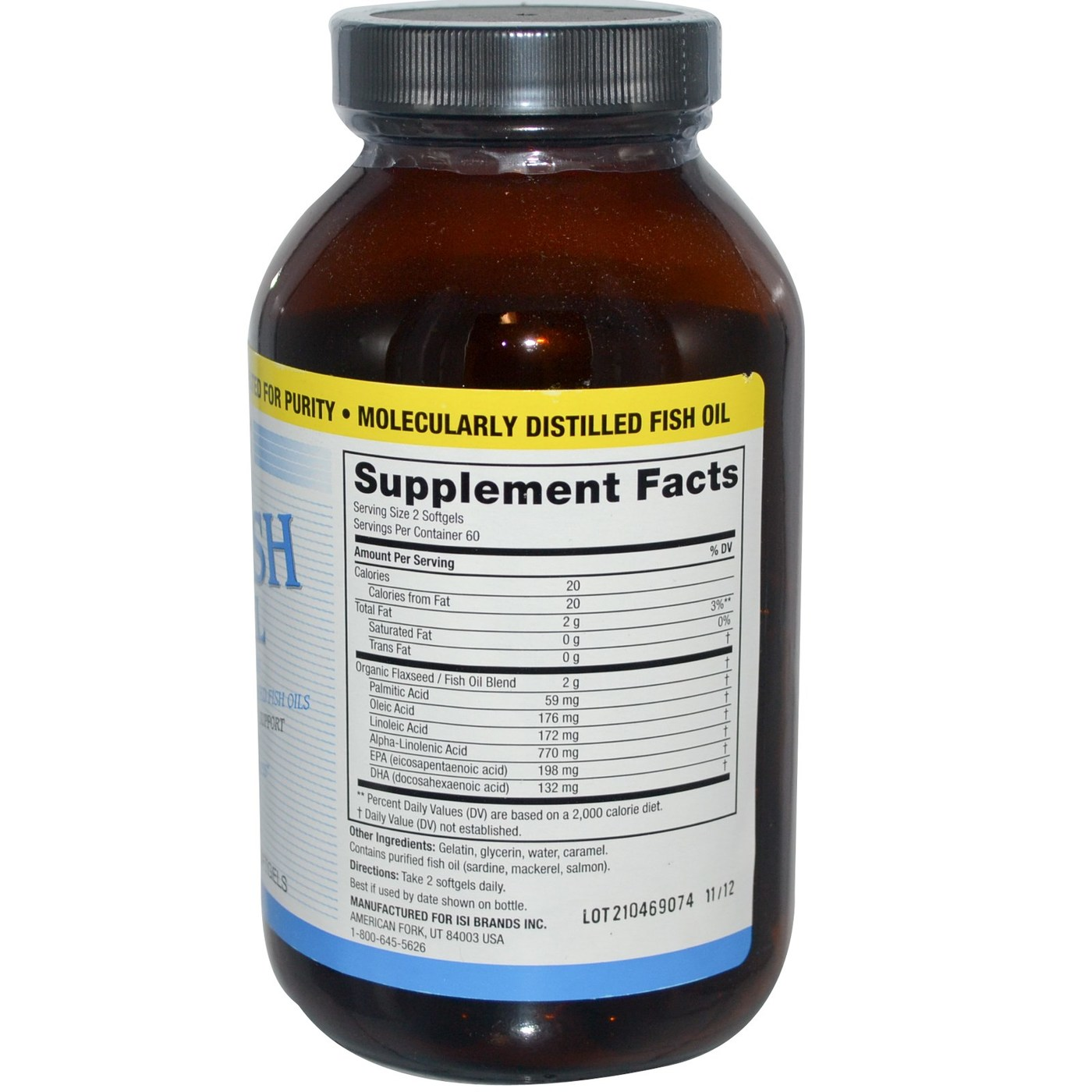 Twinlab flax fish combo oil softgels 120 softgels for Fish oil good for