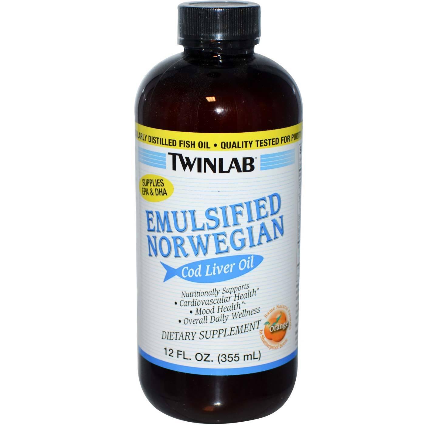Twinlab Emulsified Cod Liver Oil Orange 12 Fl Oz Nordic Arctic Softgels Lemon Hover To Zoom