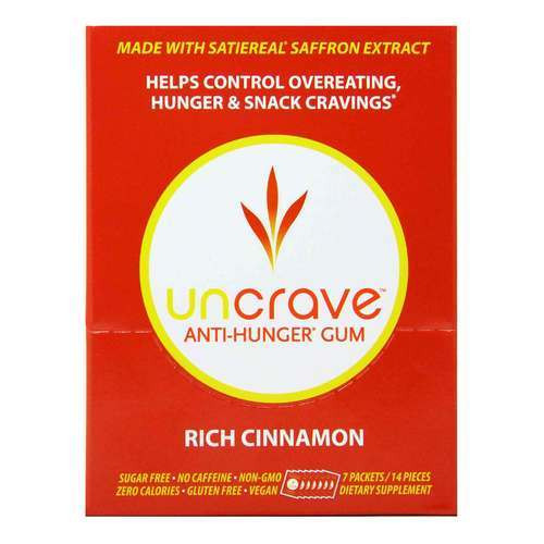 Buy Uncrave Anti Hunger Gum Rich Cinnamon 7 Packets 14 Pieces